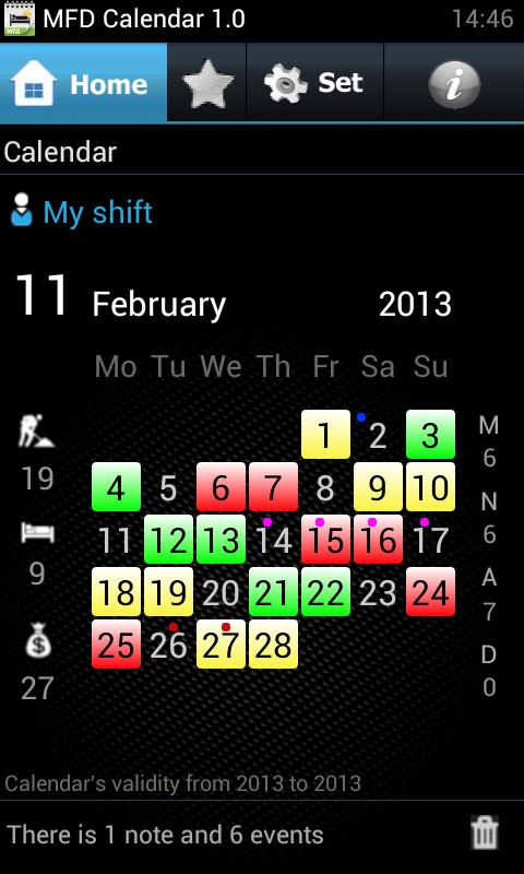 Gestire i turni di lavoro sul proprio Android - MFD Calendar  1